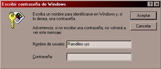 """En esta ventana ingresamos ÚNICAMENTE el """"Nombre de usuario"""". El cual"""